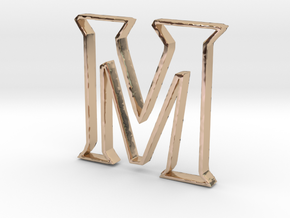 Typography Pendant M in 14k Rose Gold