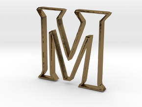 Typography Pendant M in Polished Bronze