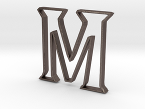 Typography Pendant M in Stainless Steel