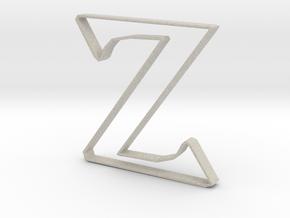 Typography Pendant Z in Natural Sandstone