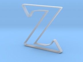 Typography Pendant Z in Smooth Fine Detail Plastic