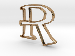 Typography Pendant R in Polished Brass