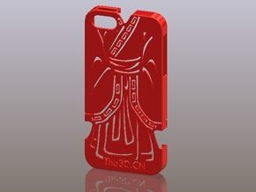 iPhone5_The Chinese Style -- Ancient costume 07 in Red Processed Versatile Plastic