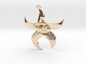 Dancing Starfish in 14K Yellow Gold