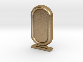 Amun Re Token in Polished Gold Steel