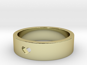 simple heart ring in 18k Gold