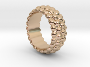 Big Bubble Ring 16 - Italian Size 16 in 14k Rose Gold Plated Brass