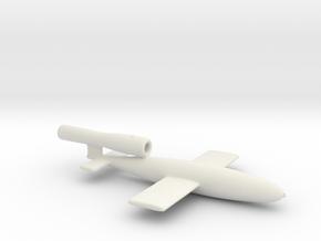 Fieseler V1 Buzz Bomb 1/144 scale & reinforced par in White Natural Versatile Plastic