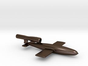 Fieseler V1 Buzz Bomb 1/144 scale & reinforced par in Polished Bronze Steel