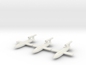 V1 Buzz Bomb 144th Scale - 3 Pack in White Natural Versatile Plastic