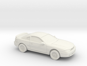 1/87 1994-98 Ford Mustang in White Natural Versatile Plastic