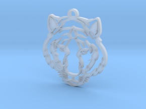 Tiger pendant in Smooth Fine Detail Plastic