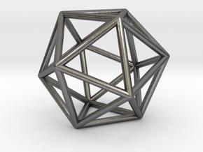 0026 Icosahedron E (5 cm) in Polished Nickel Steel