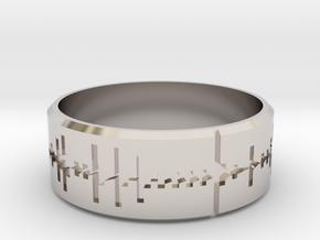 Amen, Brother - Amen Break Ring (size R 1/2)  in Rhodium Plated Brass