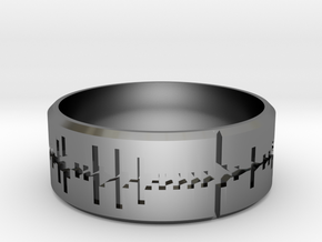 Amen, Brother - Amen Break Ring (size R 1/2)  in Fine Detail Polished Silver