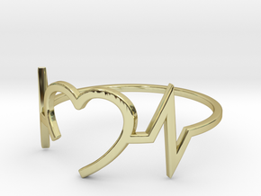 Size 6 Heartbeat in 18k Gold Plated Brass