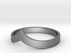 Pointed Stacking Ring in Fine Detail Polished Silver