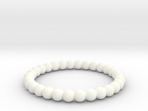 Pearl Ring in White Processed Versatile Plastic
