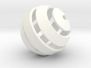 Ball-10-3 in White Processed Versatile Plastic