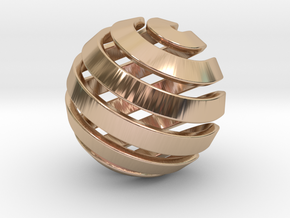 Ball-14-2 in 14k Rose Gold Plated Brass