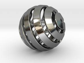 Ball-14-5 in Fine Detail Polished Silver