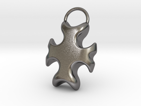Cross Bottle Opener in Polished Nickel Steel