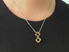 HEAD TO HEAD Duo, Pendant  in 18K Gold Plated