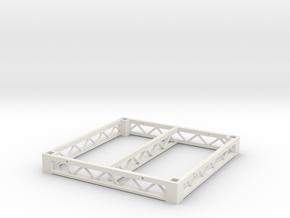 1:25 Platform 4x4, frame only in White Natural Versatile Plastic