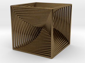 0299 Cube Line Design (full color, 5.5 cm) #003 in Natural Bronze