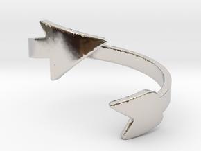 Infinity Arrow Ring  in Platinum