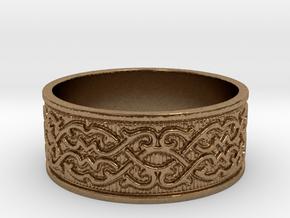 Infinite Arabesque Ring in Natural Brass