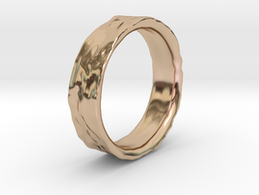 Crater Ring in 14k Rose Gold Plated Brass