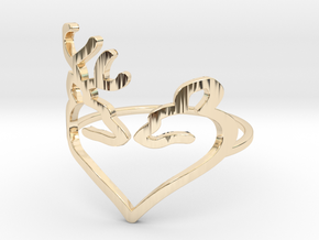 Size 9 Buck Heart in 14k Gold Plated Brass