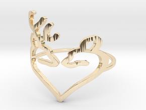 Size 9 Buck Heart in 14K Yellow Gold