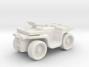 Quad ATV 1-87 HO Scale Style (Aggressive) in White Natural Versatile Plastic