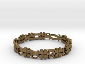 """""""Push Your Luck"""" Clovers Bracelet in Natural Bronze"""