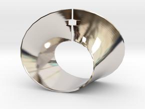 Mobius strip in Rhodium Plated Brass