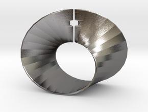 Mobius strip in Polished Nickel Steel