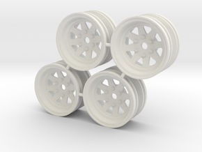 Rim Wagon Wheel Stock offset - Losi McRC/Trekker in White Strong & Flexible