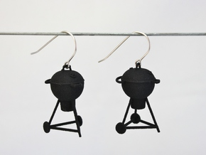Grill Earrings in Black Natural Versatile Plastic