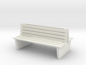 S1-211   Doppelbahnsteigbank 1 Feld in White Natural Versatile Plastic