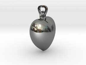 Heart Necklace Model A1 in Fine Detail Polished Silver
