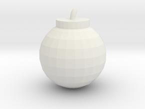 Bomb in White Natural Versatile Plastic