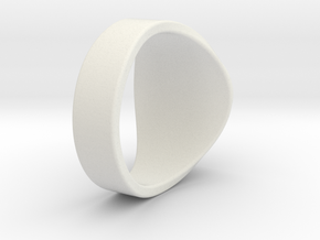 Superball Canadsian Ring in White Natural Versatile Plastic