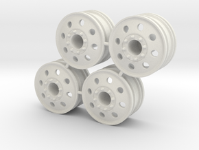 Rim Eagle 4x4 Front Set - Losi McRC/Trekker in White Strong & Flexible