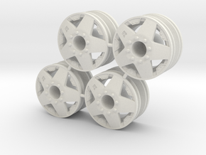 Rim Rockstar 4x4 Front Set - Losi McRC/Trekker in White Strong & Flexible