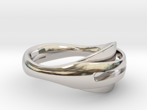 Coalesce Ring in Rhodium Plated Brass
