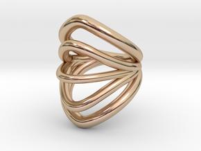Exo Ring  (Size 7.5) in 14k Rose Gold Plated Brass