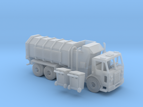 Peterbilt 320 Garbage Truck Side Loader Z Scale in Frosted Ultra Detail