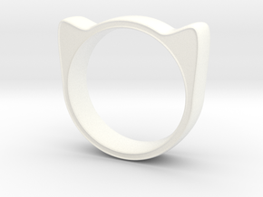 Meow ring 17mm in White Processed Versatile Plastic